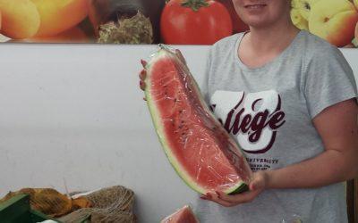 Wassermelonen im Frischmarkt Gifhorn