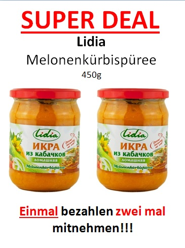LIDIA Melonenkürbispüree zum halben Preis…..