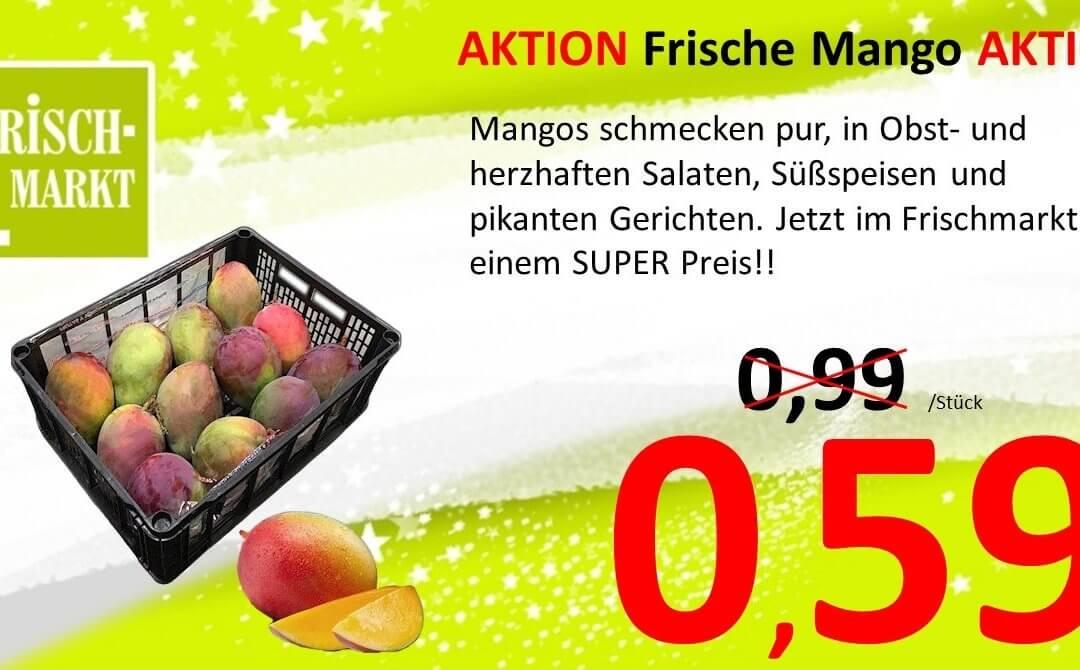 Frischmarkt bietet frische Mango im Angebot
