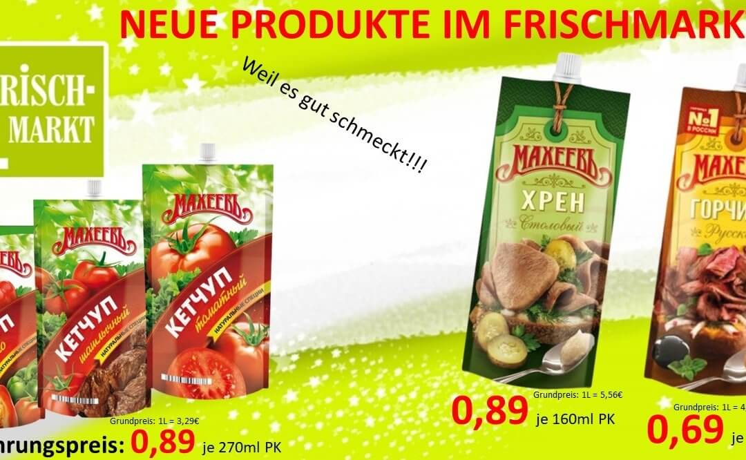 Maheev Ketchup oder Maheev Senf im Frischmarkt