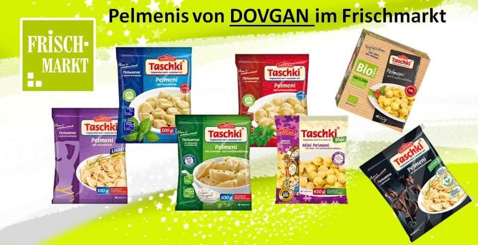 """Neue Teigtaschen """"Pelmenis"""" im Frischmarkt von DOVGAN"""