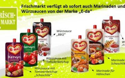 """Russische Sauce der Handelsmarke """"E-da"""" im Frischmarkt"""