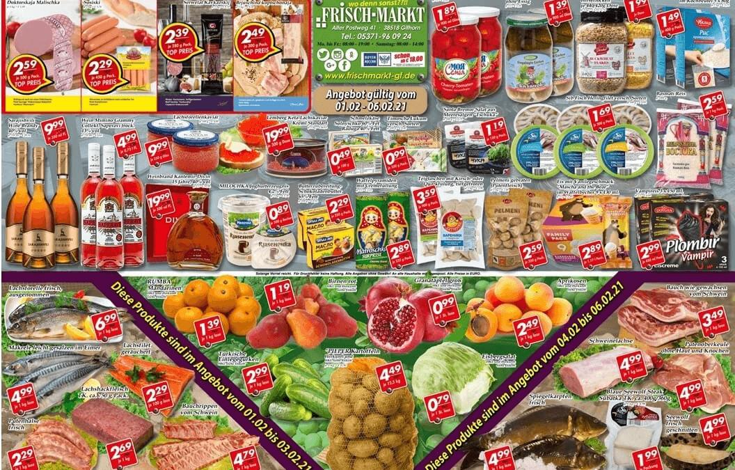 Angebot im Frischmarkt Gifhorn vom 01.02. bis 06.02.21