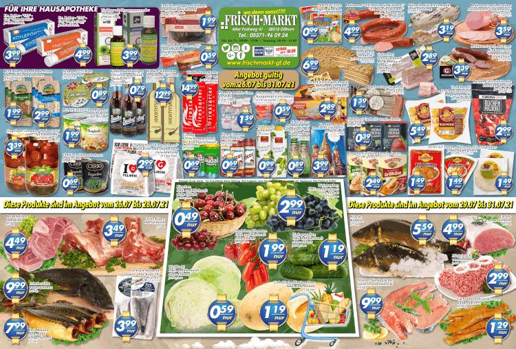 Wochenangebot im Frischmarkt Gifhorn vom 26.07. bis 31.07.2021