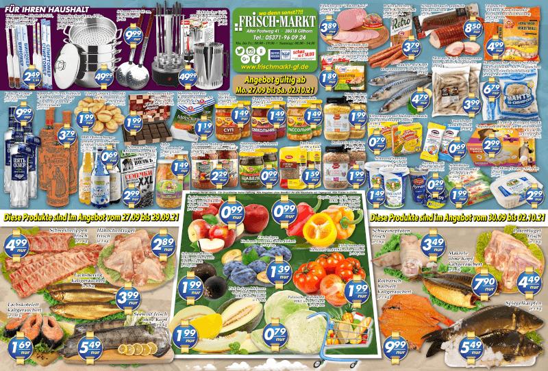 Wochenangebot im Frischmarkt Gifhorn vom 27.09. bis 02.10.2021