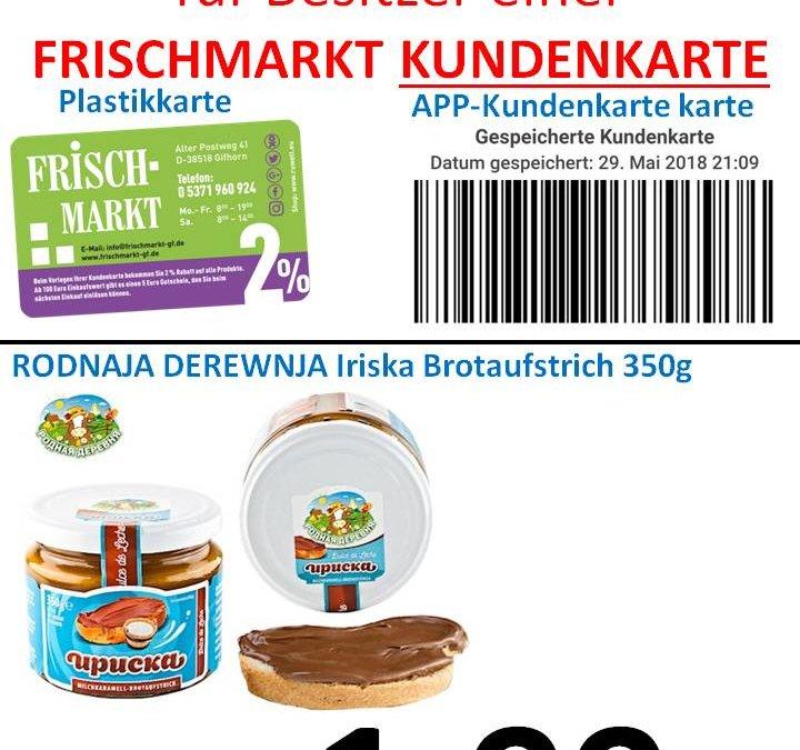 GRATIS Aktion von Leis GmbH an Frischmarkt Kunden……